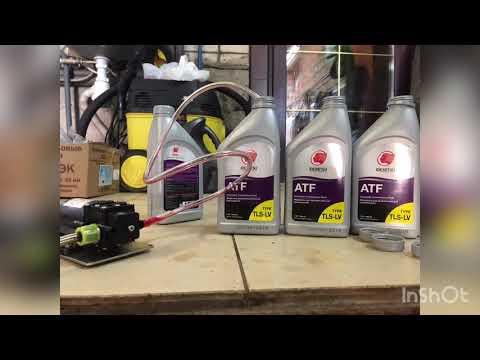Фольксваген Поло 1.6 замена масла в АКПП с заменой фильтра ,с помощью китайского насоса