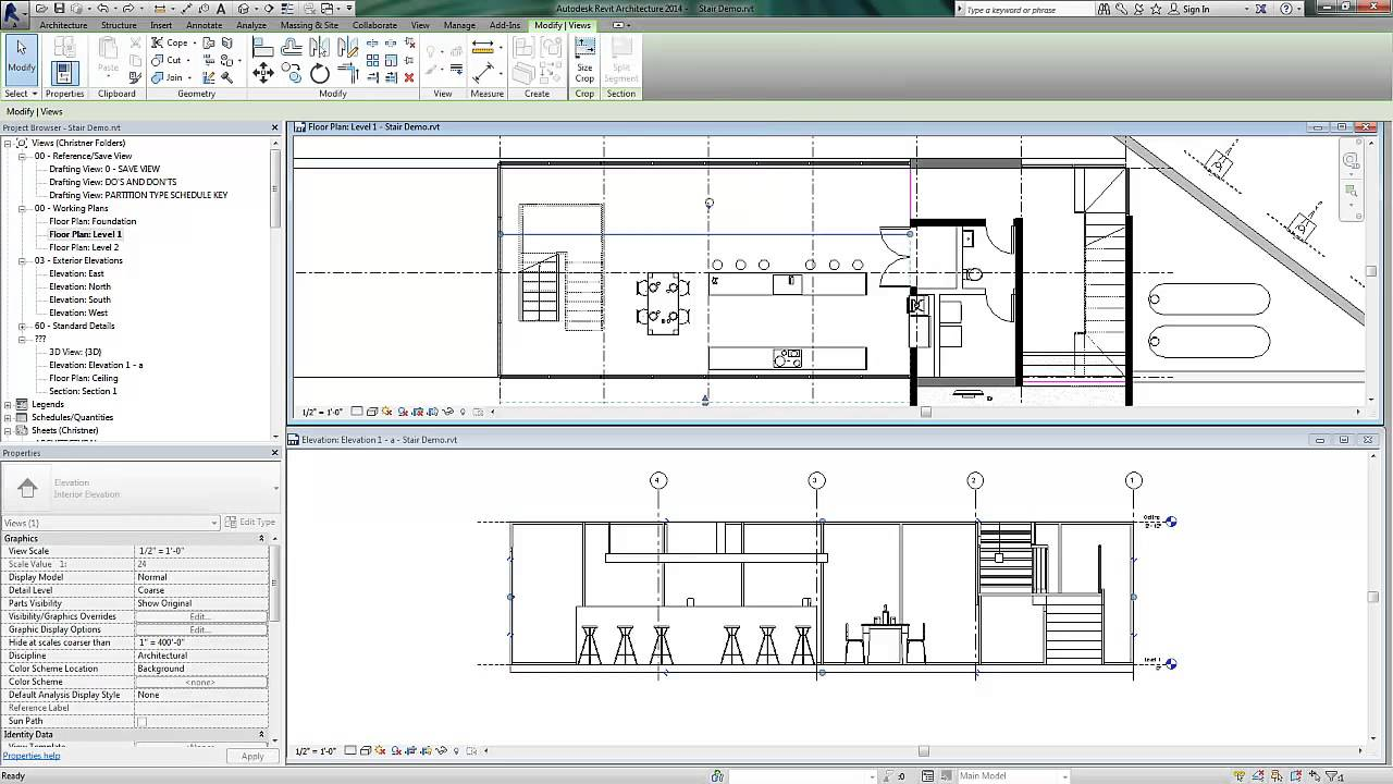 Front Elevation Design In Revit : Revit segmented elevation views youtube