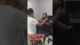 Download kejutan ulang tahun dari Reza Rahadian dan Dion Wiyoko untuk Ayusitha