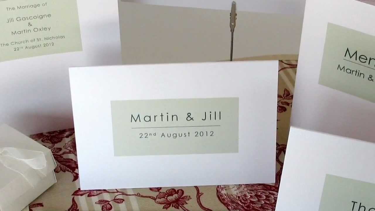 Modern Wedding Invitations from Millbank and Kent - YouTube