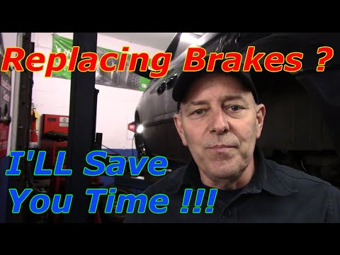 How to replace front brakes and rotors 2005 Dodge Caravan