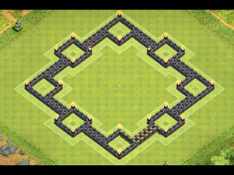 Clash of Clans - EPIC Town Hall 8 (TH8) Trophy/War Base With Air Sweeper Speed Build