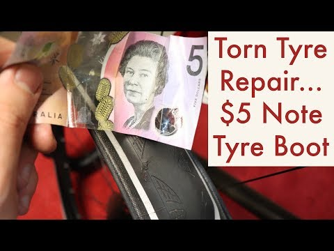 Temporary Tyre Repair – $5 Note Tyre Boot