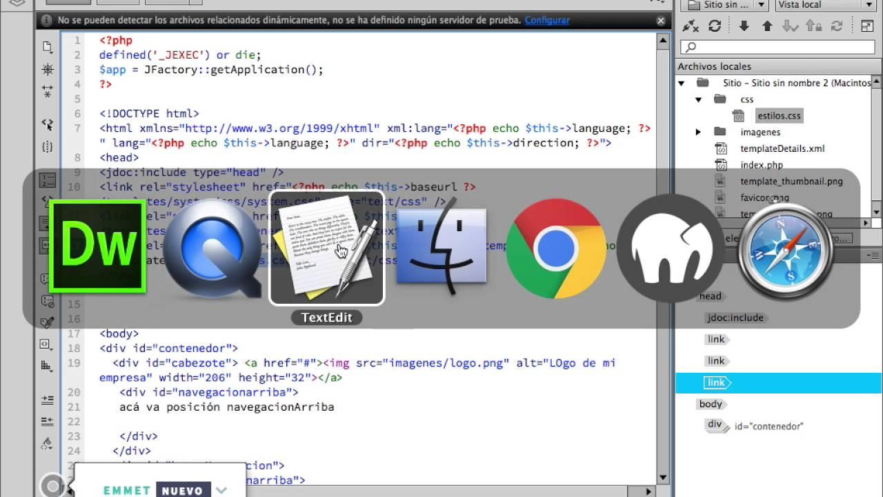 20 crear plantilla de joomla 3.0 | configurar el index.php - YouTube