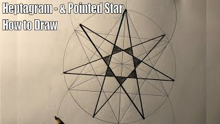 Heptagram - Heptagon 7 Poiฑted Star How to Draw