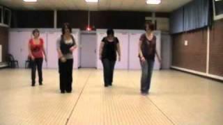 line dance - shakira - waka waka