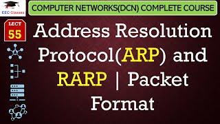 Address Resolution Protocol(ARP) and RARP – Packet Format(Hindi, English)