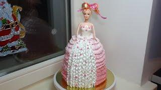 Торт кукла Барби девочке на день рождения пошаговый рецепт