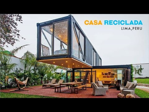 Casa Reciclada Container House by Sachi Fujimori, Lima, Peru