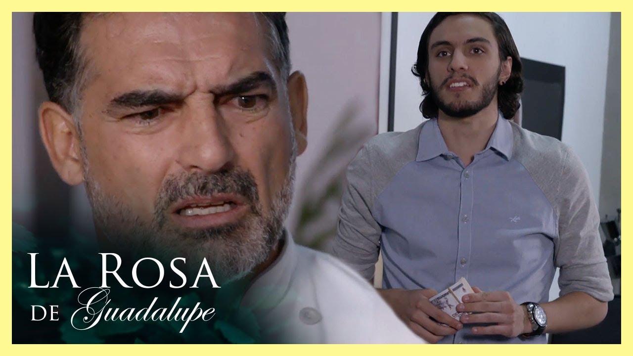 Efrén encuentra a su hijo robándole dinero  El ingrediente secreto es el amor   La Rosa de Guadalupe