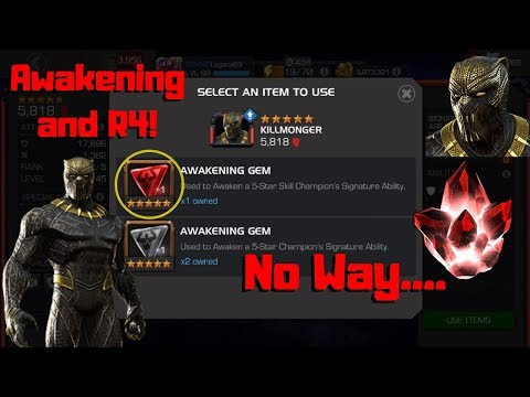 OMG! KillMonger Awakening and R4! + 5* Crystal! - Marvel Contest of Champions