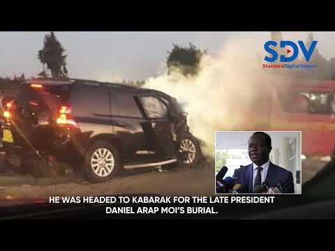 Jubilee Secretary General Raphael Tuju involved in road accident