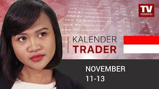 InstaForex tv news: Kalendar pedagang  11 - 13 November: Trader siap untuk jual GBP (GBP, USD)