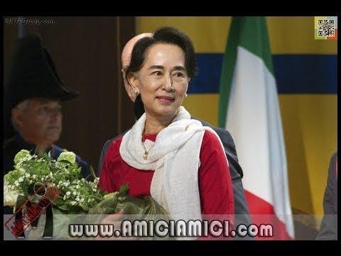 Il Premio Nobel per la Pace Aung San Suu Kyi a Parma