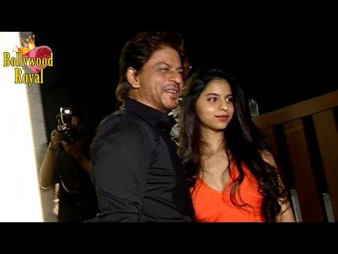 Thumbnail: Beautiful Suhana Khan & Shah Rukh Khan At Gauri Khan's Restaurant Launch