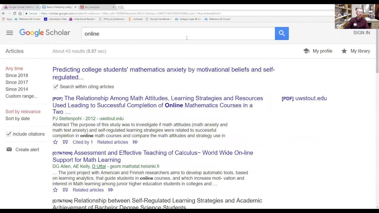 Videos - ISTTECH 6250 - Writing a Graduate Paper - Zeitz
