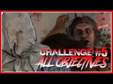 Single Player Challenge #5 | Adam & AJ?! | ALL OBJECTIVES COMPLETE | Friday the 13th: The Game