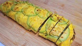 달걀말이 좋아하세요? 입에서 살살 녹는 애호박 계란말이…