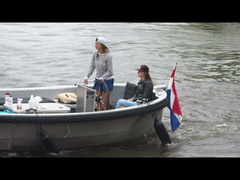 Boating in Amsterdam on the canals, river IJ and the Bosbaan,