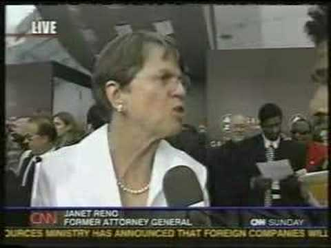 Janet Reno at the Grammy's