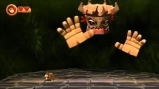 Donkey Kong Country Returns Final Boss : Tiki Tong (no damage) + Ending