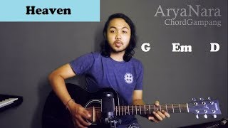 Chord Gampang (Bryan Adams - Heaven) by Arya Nara (Tutorial Gitar) Untuk Pemula
