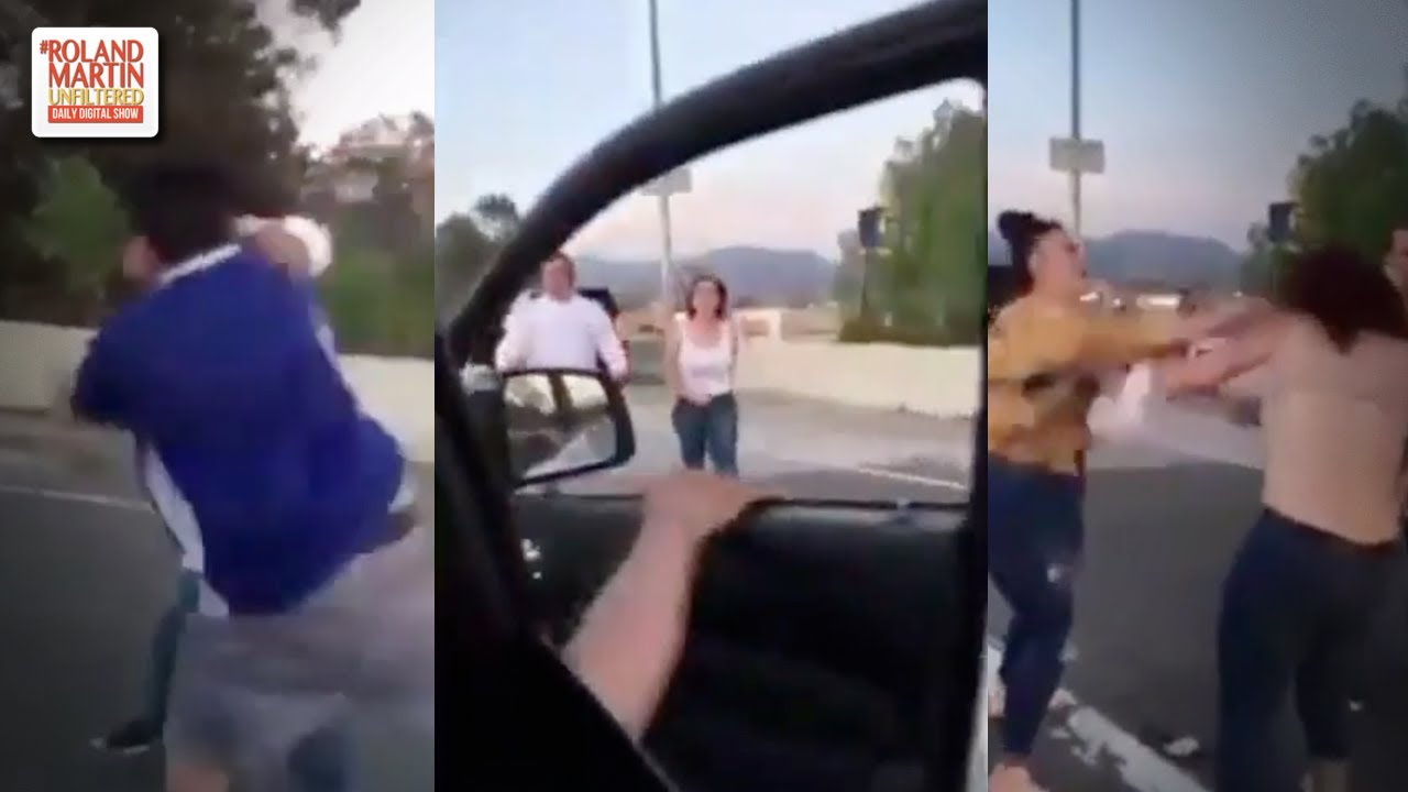 Racist Road Rage Couple Catch A Case Of #TeamWhipDatAss From Latino Mom And Dad