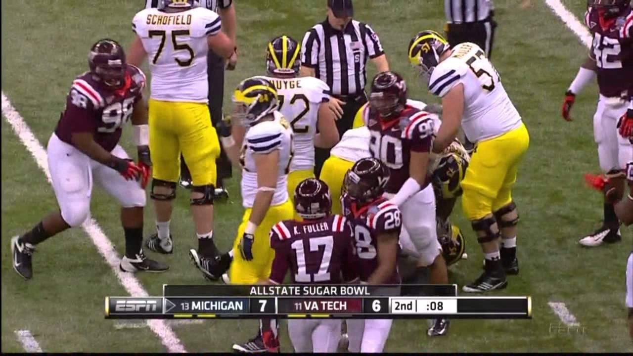Michigan Highlights From 2012 Sugar Bowl V Virginia Tech Youtube