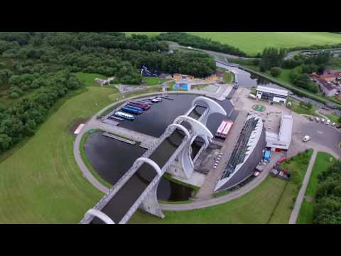 Falkirk Wheel from above