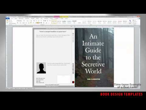 Print Book Cover Template for Word - Preview