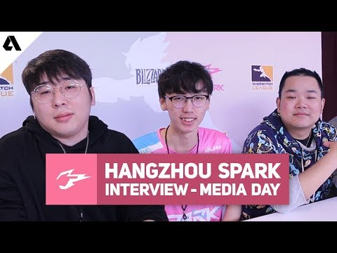 Hangzhou Spark Interview ft. Guxue, Coaches & Management - Overwatch League 2019 Media Day