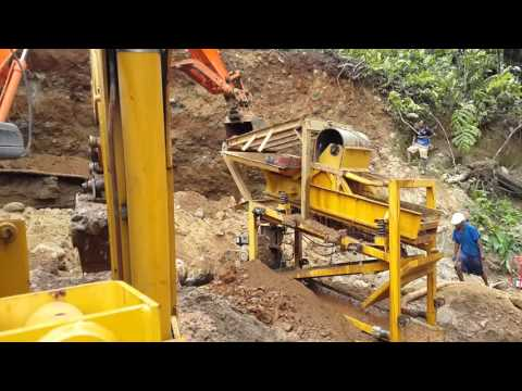 Alluvial Gold Mining In Papua New Guinea. GWP Wash
