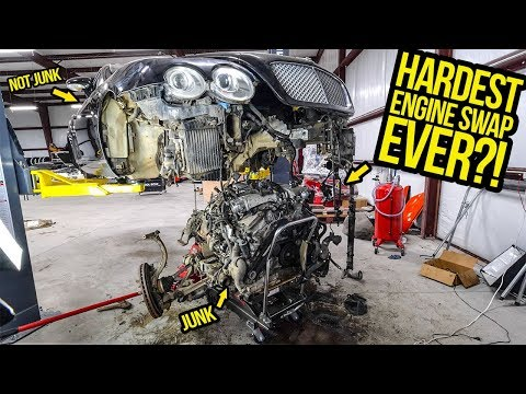 Pulling The Engine Out Of My $11,000 Bentley Continental GT Was The HARDEST THING I'VE EVER DONE