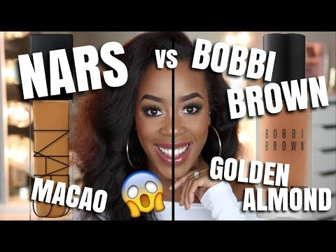 BOBBI BROWN vs. NARS FOUNDATION | WHICH ONE IS BETTER?? | 8HR WEAR TEST | Andrea Renee
