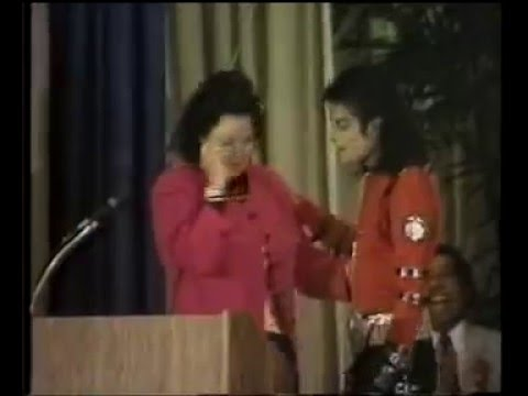 Michael Jackson at Gardner St. School for Auditorium Dedication