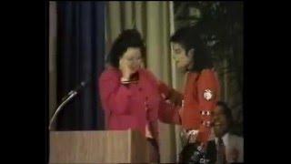 Michael Jackson at Gardner St. School for Auditorium Dedication
