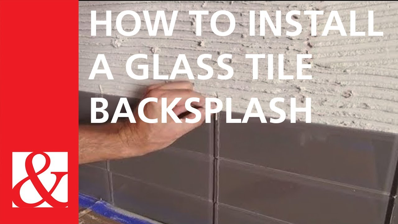 Quick And Easy Project How To Install A Glass Tile Backsplash