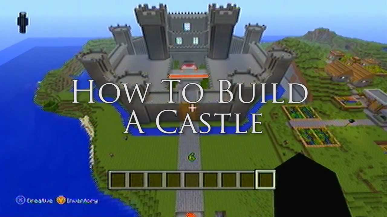 minecraft ideas | how to build a castle! - youtube