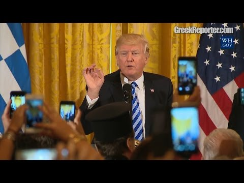"President Trump: ""I Love the Greeks"" - Full Speech on Greek Independence Day at the White House"