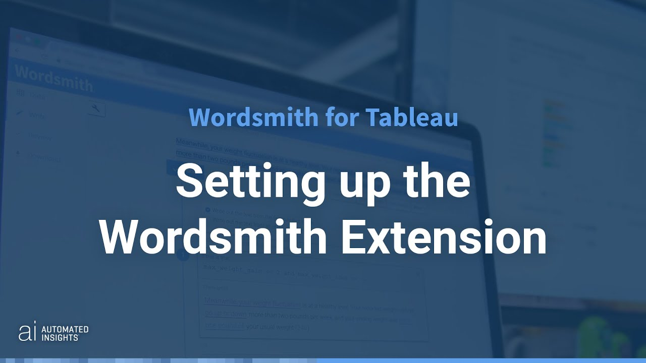 Setting up the Wordsmith Integration