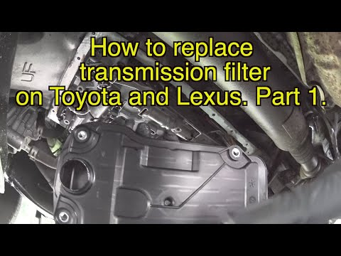Toyota Transmission filter replacement, Lexus transmission filter replacement, how to change filter