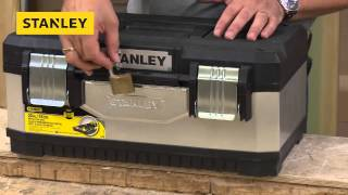 Xms14toolbox Stanley Galvanised Side Toolbox 50cm (20in) £19 99