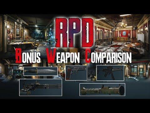 Resident Evil 2 Remake - BONUS WEAPONS COMPARISON Hardcore - Part 1 RPD (FULL GAME)