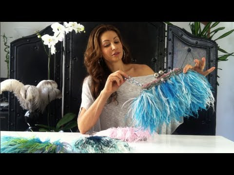 "RunwaydoneMYWAY-""How to make a feather clutch"""
