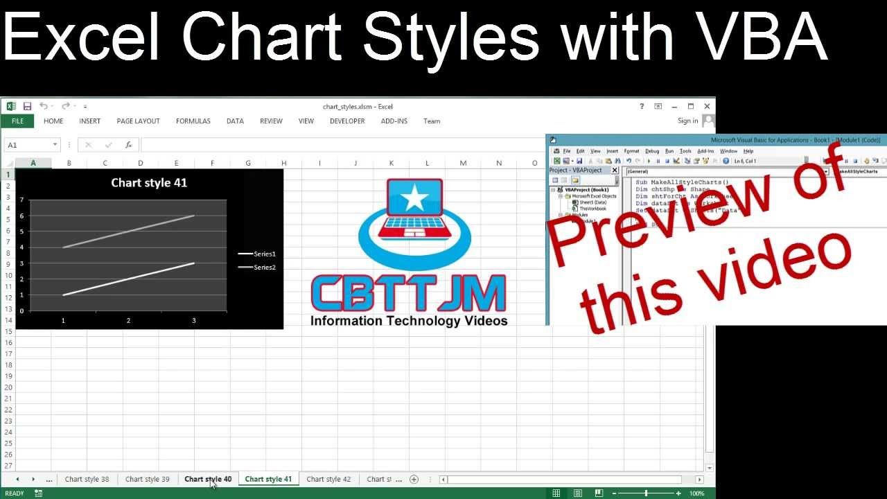 Exploring Excel Chart Styles with VBA - YouTube
