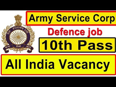 Direct Army Corp Latest Defence job 10th Pass All India Vacancy