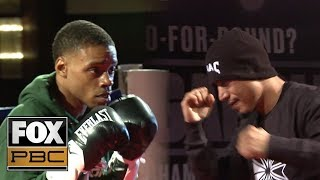 Spence Jr and Garcia looked ready to go at Tuesday's open workouts | PBC ON FOX