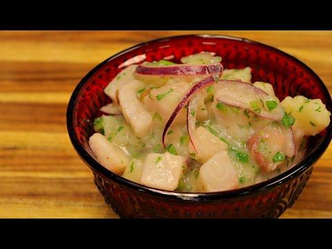 Fish Ceviche and potato salad – seafood recipe – tilapia fish recipes – appetizer