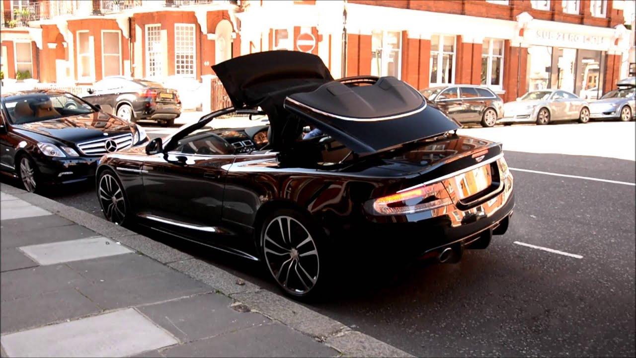 Aston Martin DBS Volante Startup Drive Away YouTube - Hardtop convertible aston martin