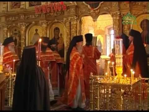 Трансляция божественной литургии из Оптиной пустыни города Козельска